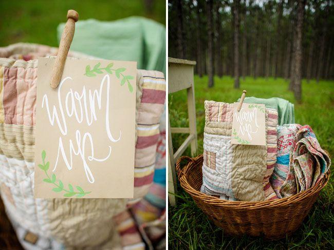 mantas para invitados boda