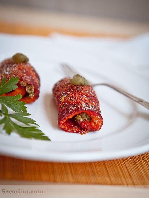 Peperoni arrotolati (pimientos enrollados) - Secocina