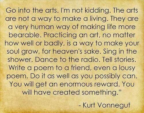 Do it for Art's Sake. Vonnegut at his best!