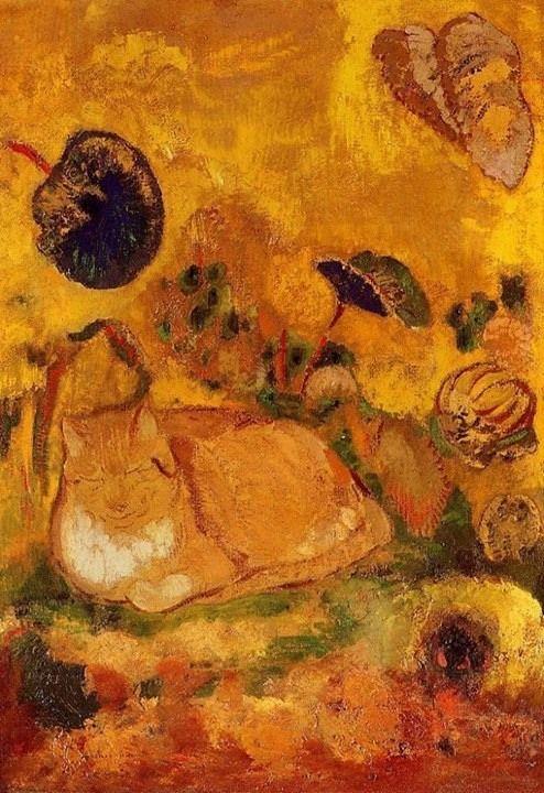 Odilon Redon (1840-1916) Bason the Artist's Cat