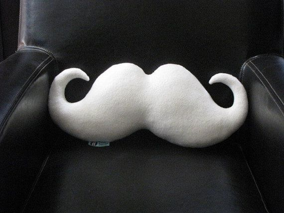 Handmade Moustache Holiday Pillow