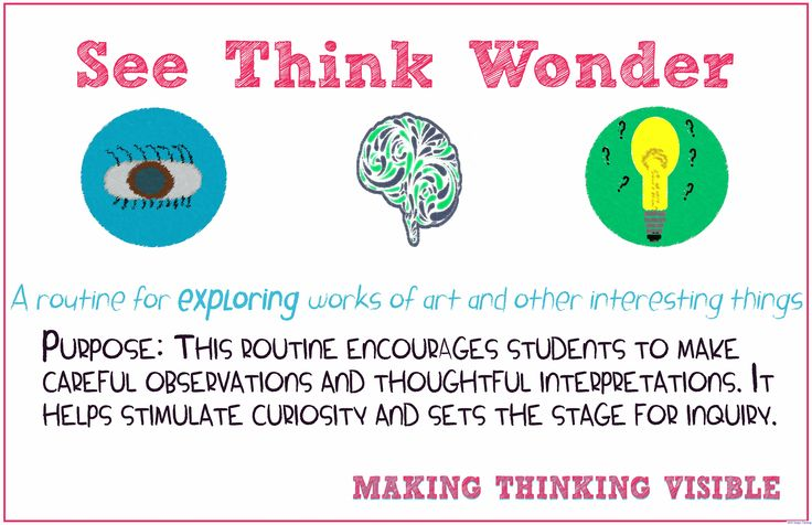 Visible Thinking Routines: SEE THINK WONDER