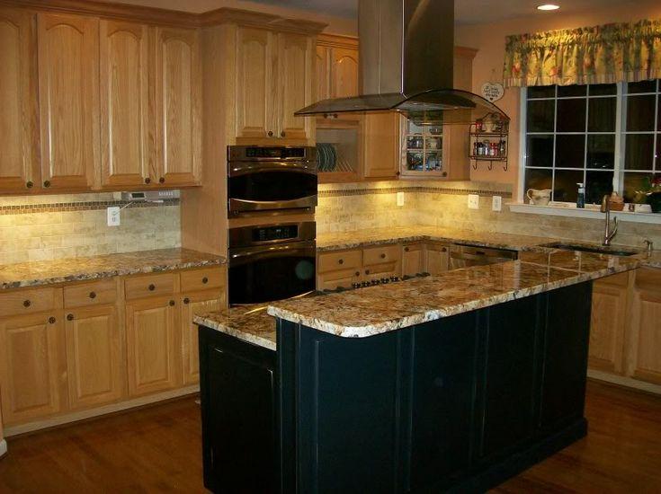 oak kitchen cabinets black island design ideas pinterest on kitchen island ideas black id=58226