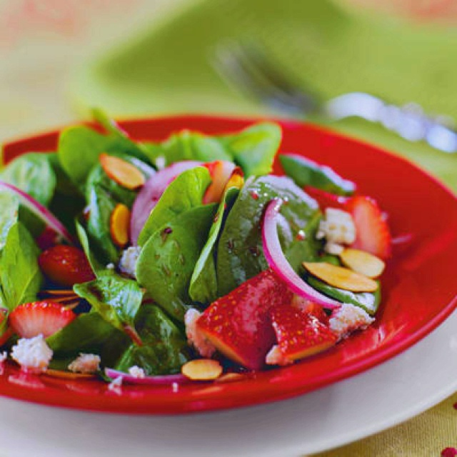 southern living stawberry spinach salad