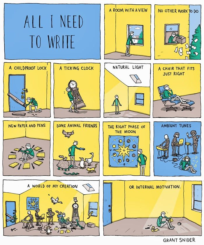 INCIDENTAL COMICS: All I Need To Write