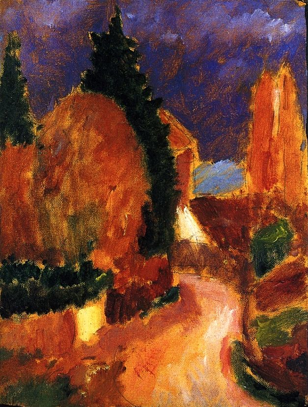 Variation/ The Road, Mother of All Variations Alexei Jawlensky - 1914