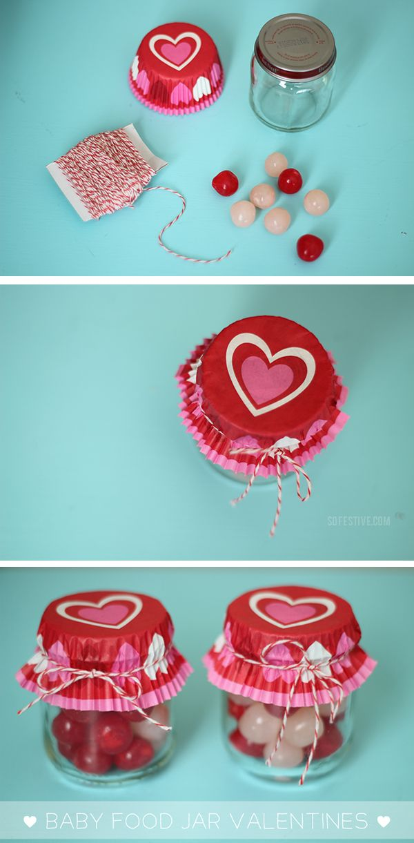 Baby Food Jar Valentines! | More simple ways to celebrate at SoFestive.com