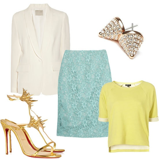 Spring Trend - White Blazers paired w/ pastels!