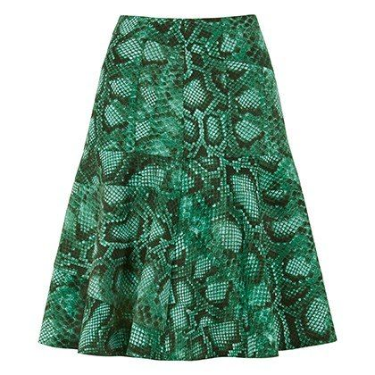 Altuzarra For Target: flounce skirt in green python print, $34.99*