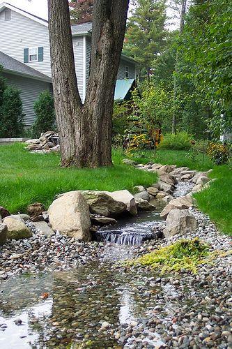 Man made backyard stream idea #1.   Outdoor Ideas   Pinterest on Backyard Stream Ideas id=35999