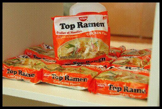 Inside stomach:  Ramen Noodle digestion goes viral