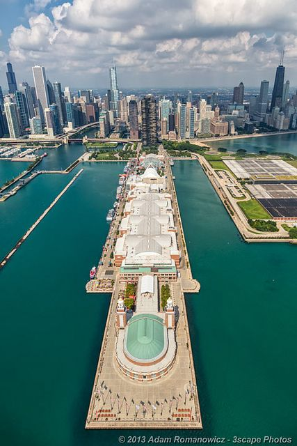I am an Illini and so proud to be from the City by the Lake. Such a sweet home. Navy Pier Chicago (aerial).