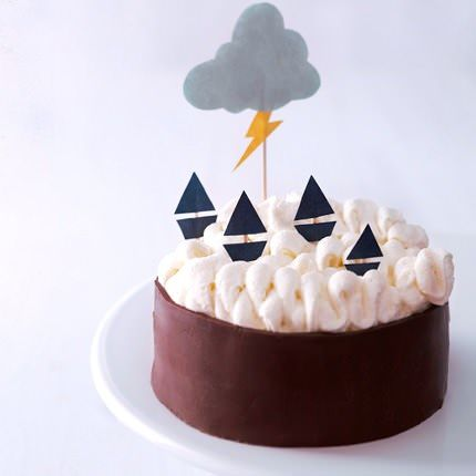 Super Fun Stormy Birthday Cake
