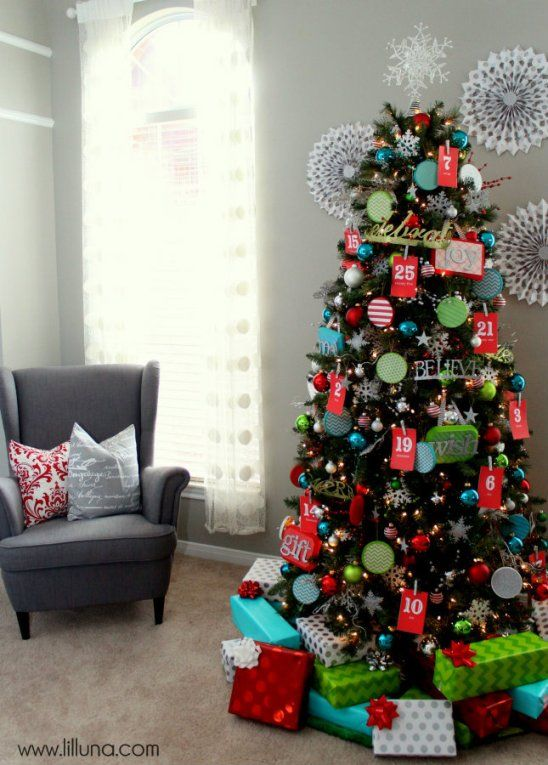 #DIY Advent Christmas Tree