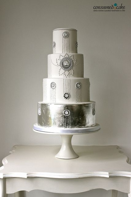 1920's Inspired Wedding Cake by ConsumedbyCake, via Flickr