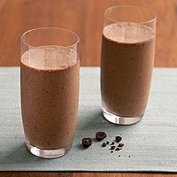 Chocolate-Espresso Smoothies from Runner's World. aka heaven in a glass post-run.