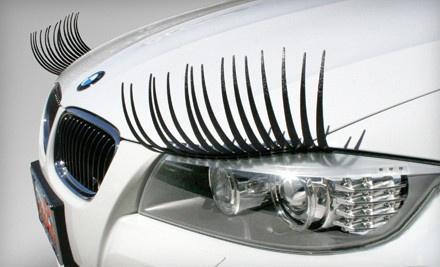 Eyelashes for your car  ????  lol