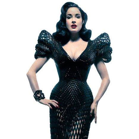 Dita Von Tease 3D printed dress by Michael Schmidt and Francis Bitonti