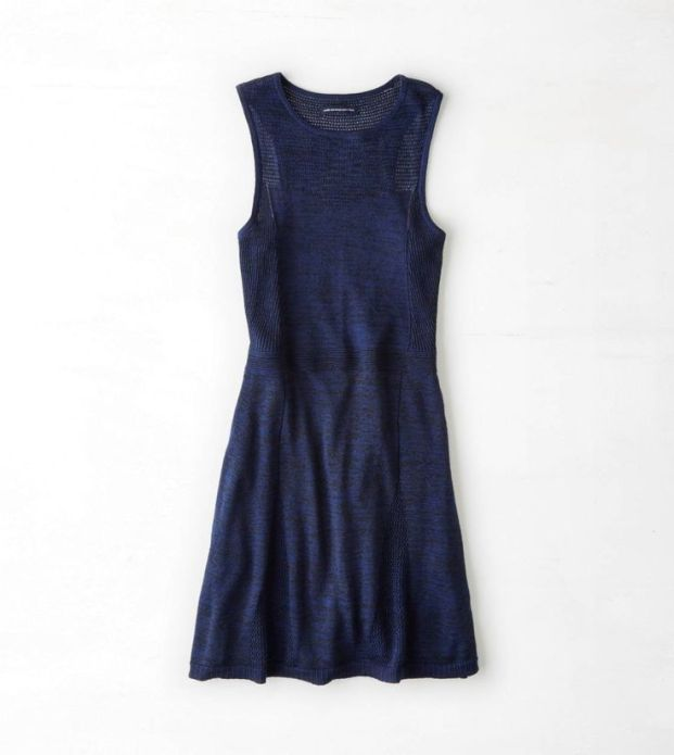 robe-tricot-bleu-marin-American-Eagle-Outfitters
