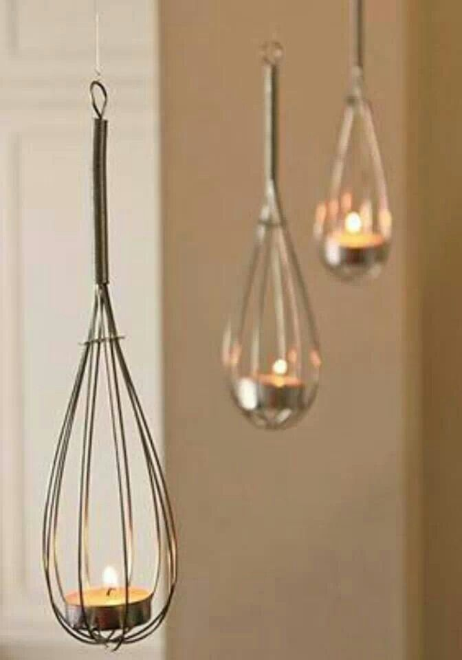 Whisk tea lights, so simple!