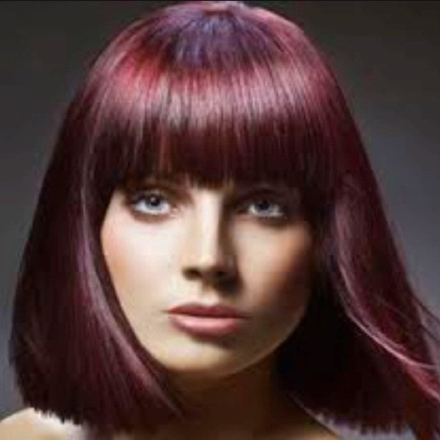 Dark Red Violet Hair