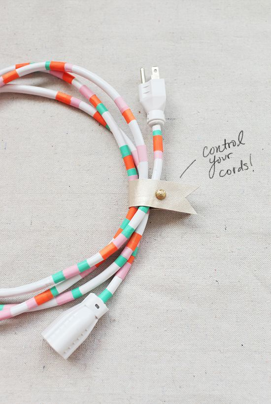 Washi tape cables!