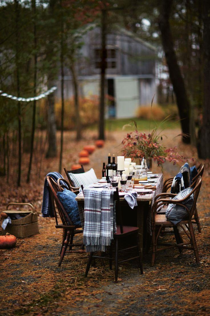 Outdoor Fall Dinner
