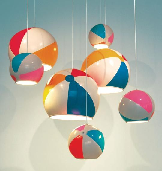 TOBYhouse beach ball light (via Apartment Therapy): lights a beach