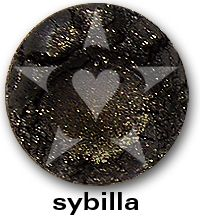 """Sybilla is a smooth, complex black frost with mauve undertones and brilliant golden sparks. From Aromaleigh Mineral Cosmetic's """"Bete Noire"""" Mineral Eyeshadow Collection... http://www.aromaleigh.com/nebnomieyco.html"""