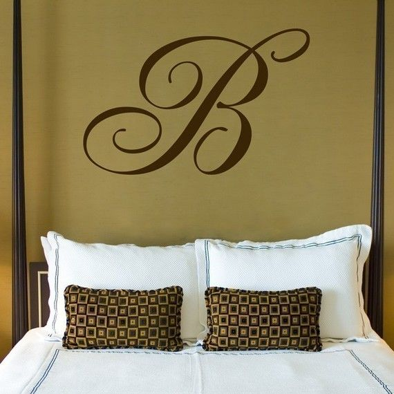 Giant Monogram  Wall Decals  Your Choice of Letter  by DaliDecals, $40.00