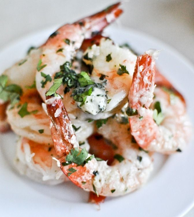 THIS roasted parmesan basil butter shrimp is so simple to make and also tastes just devine