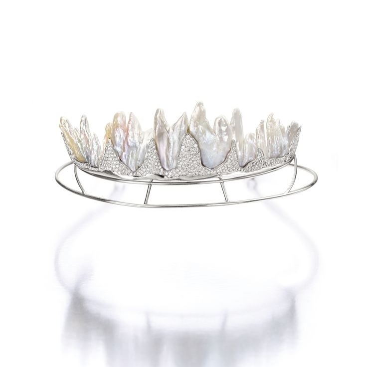 Cultured Freshwater Pearl and Diamond 'Fire & Ice' Tiara, Geoff Rowlandson, Circa 2000 | Lot | Sotheby's