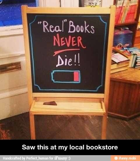 Real books never die!
