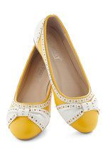 How About Wow? Flat in Sunflower | Mod Retro Vintage Flats | ModCloth.com