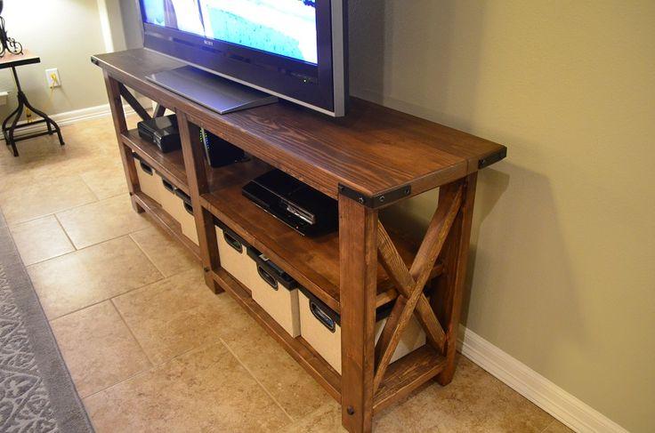 Custom diy big screen tv stand bretts custom