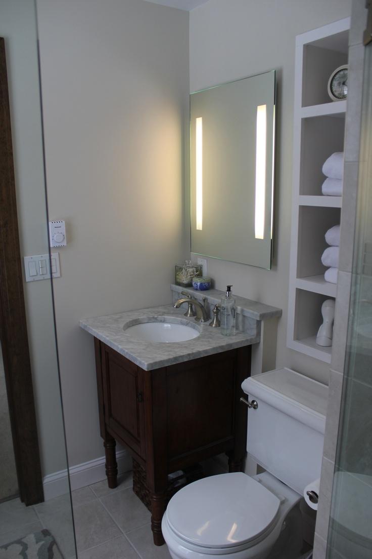 Small bathroom reno   Bathroom Ideas   Pinterest on Small Bathroom Ideas Pinterest id=90819