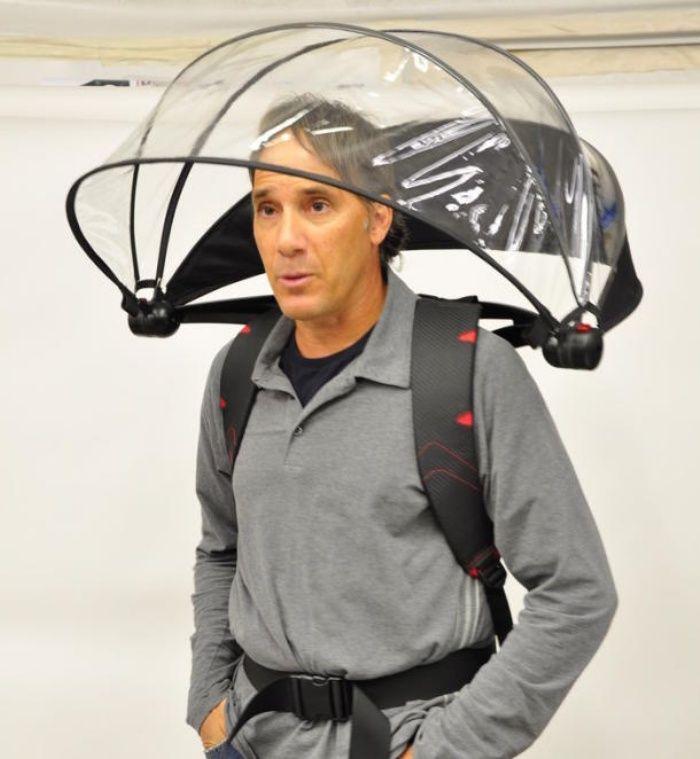 Nubrella is a Funny-Looking Hands-Free Umbrella