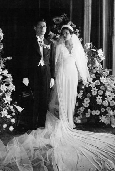 +~+~ Vintage Photograph ~+~+  French industrialist Paul-Louis Weiller  and Greek model Aliki Diplarakou on their wedding day in Paris in 1932.