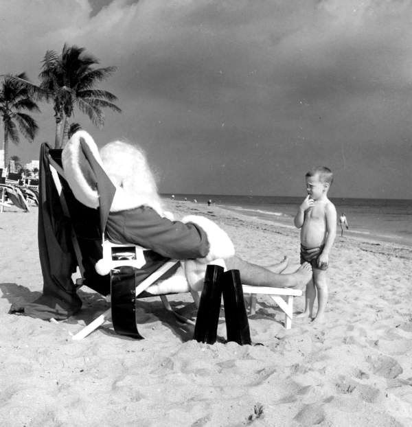 Child Looking at Santa on the Beach – 1964; Florida Memory on The Commons (Flickr); State Library and Archives of Florida; http://www.flickr.com/photos/floridamemory/5257254369/