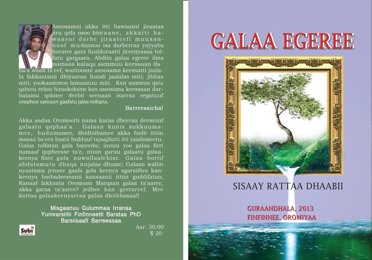 Creative (novel) writing in Oromo    Galaa Egeree
