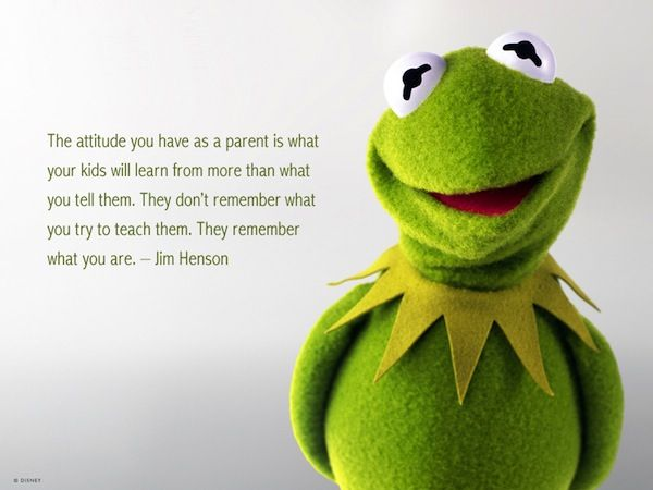 "One of my favorite quotes by Jim Henson. Sharing in honor of his birthday today (September 24th). :)    ""The attitude you have as a pa"