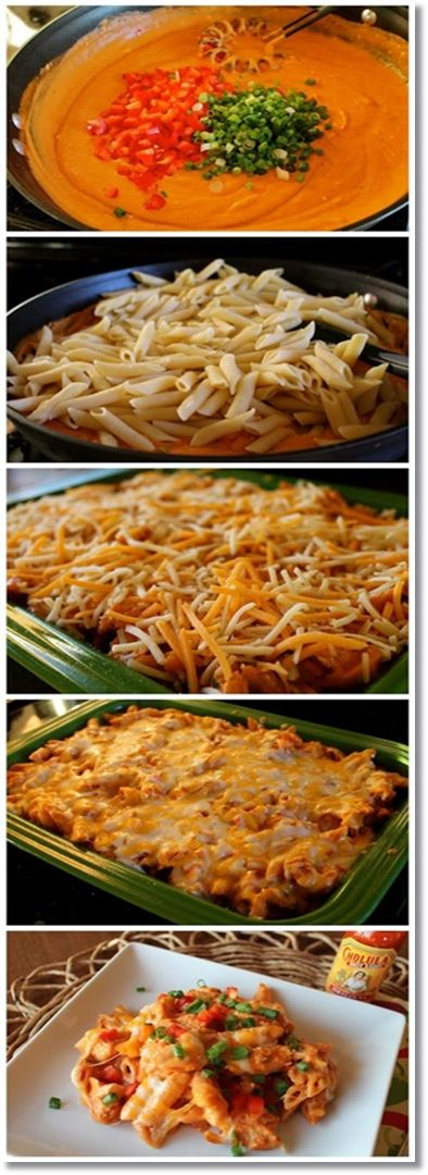 Cheesy Chicken Enchilada Pasta