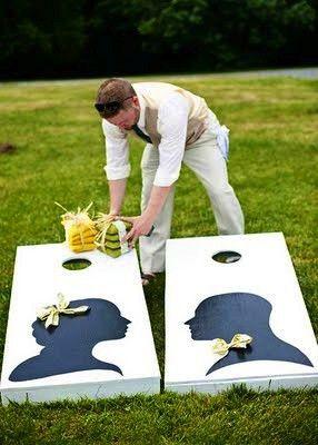 silhouette beanbag toss #weddings