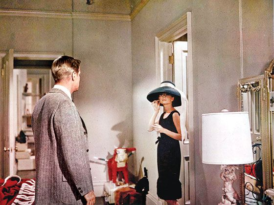 Pappard and Hepburn on Capote's Breakfast At Tiffany's set.