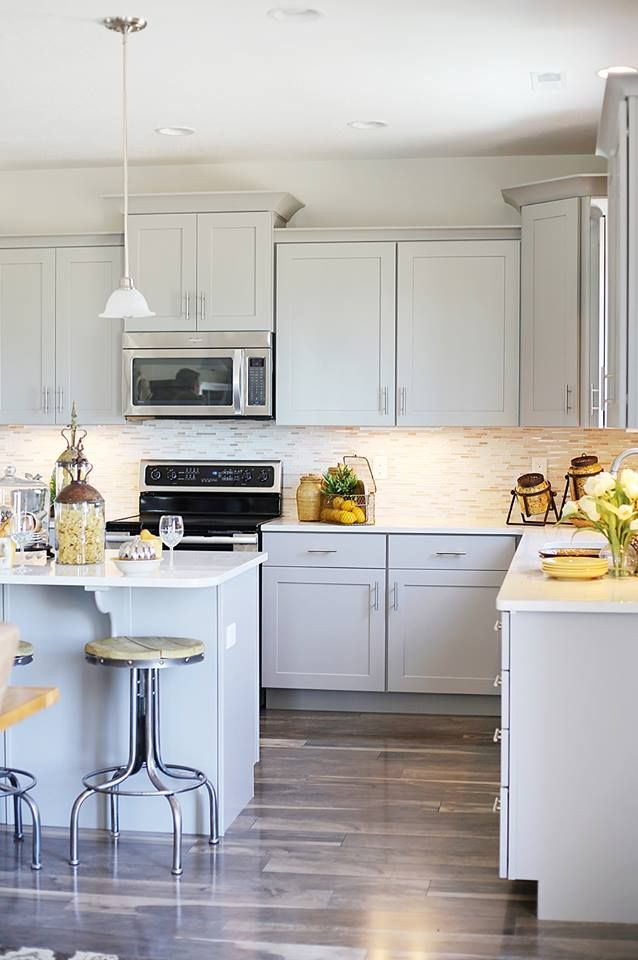 gray kitchen cabinets for the home pinterest on kitchen ideas gray id=74179