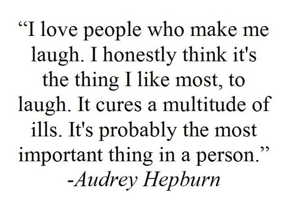 Audrey Hepburn - LAUGH <3