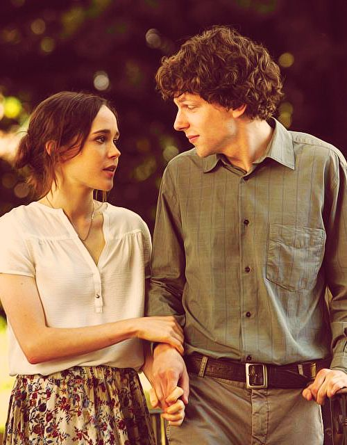 Jesse Eisenburg and Ellen Page in 'To Rome With Love'