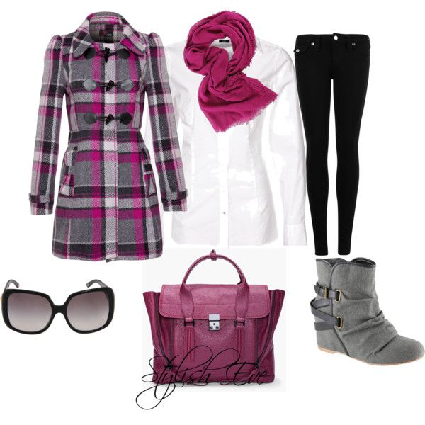 Burgundy Winter Outfit !