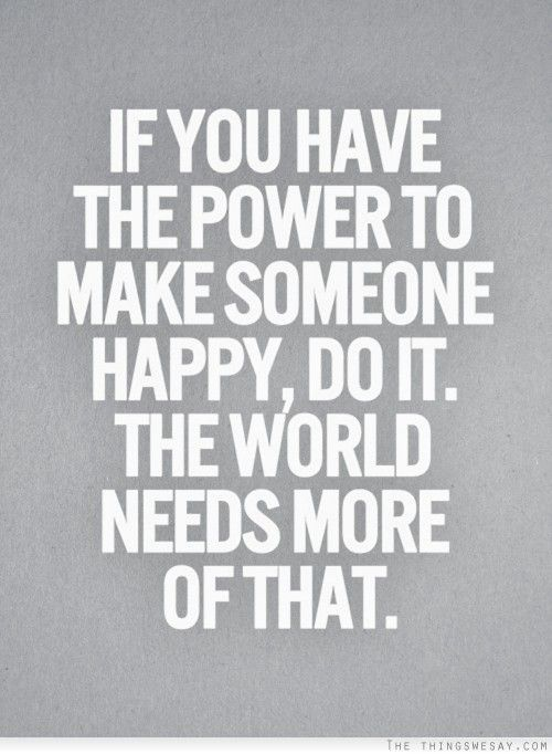 Happiness is powerful!