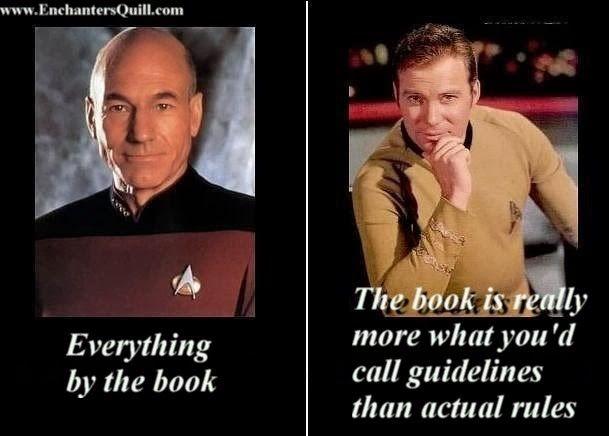 Star Trek Meme Captain Kirk Captain Picard Slight